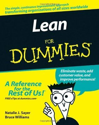 Lean For Dummies by Williams, Bruce Paperback Book The Cheap Fast Free Post