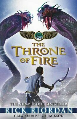 The Throne of Fire (The Kane Chronicles Book 2) by Riordan, Rick Hardback Book