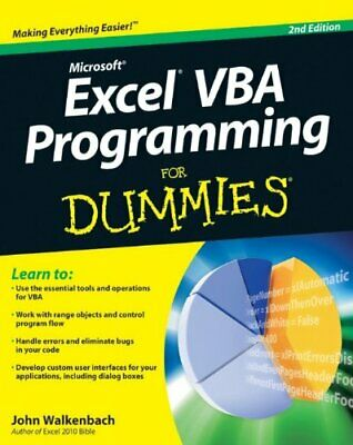 Excel VBA Programming for Dummies (For Dummies ... by Walkenbach, John Paperback