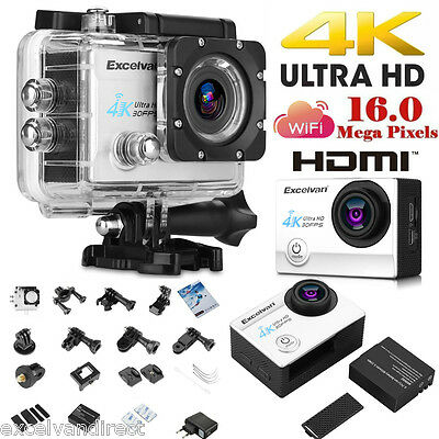 "4K 2.0"" Ultra HD 1080P Sports WiFi Cam Action Camera DV HDMI Video Recorder 16MP"