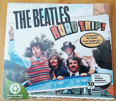 The Beatles Mini-Calendar Road Trip 2010 16 months 5.5 X 5.5 inches SEALED