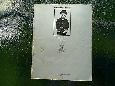 Songs of John Lennon Book Contains Photos + Music Sheets VERY RARE! UK