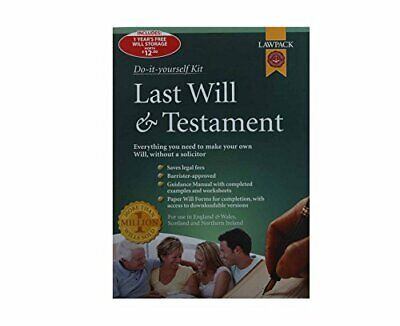 Lawpack Last Will and Testament Pack Mixed media product Book The Cheap Fast