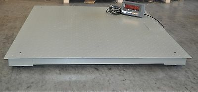 "4'x4' 10,000 Lbs Capacity 1 lbs Accuracy Floor Pallet Scale Industrial 48"" X 48"""