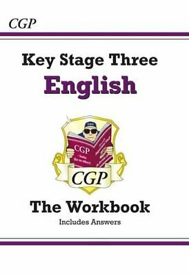 KS3 English Workbook (with answers) (CGP KS3 English) by CGP Books Paperback The