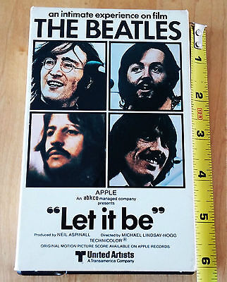 The Beatles Let It Be OFFICIAL Beta Tape NTSC United Artists ABKCO 1970 RARE!!!