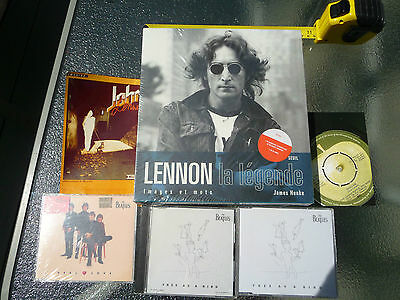 "John Lennon Lot ""La Légende"" Book + 3 CDs + Russian Calendar 1989 + Postcard"
