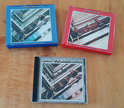 """The Beatles CDs '62-70 Red, Blue & Promo Grey (""""Not For Sale"""") Original Releases"""