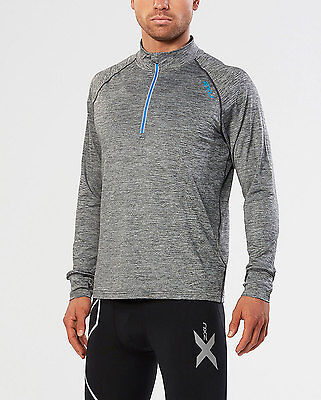 NEW 2XU URBAN 1/4 ZIP Long Sleeve T-Shirt Mens Shirts