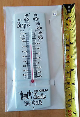 The Beatles Thermometer Vintage Official Beatles Fan Club USA 1964 or 1965