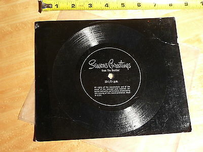 The Beatles USA Fan Club Christmas 1967 33rpm RARE! Christmas Time is Here Again