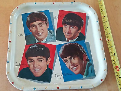 The Beatles VINTAGE Metal Color Tray 13''X13'' Worcester Ware 1964 Not a Remake!