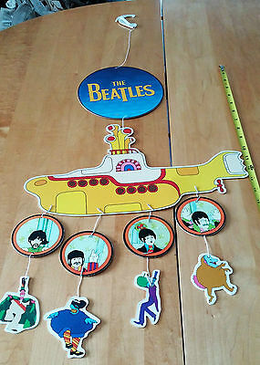 "The Beatles Yellow Submarine Assembled Mobile 15"" Wide Advert for the 1999 DVD"