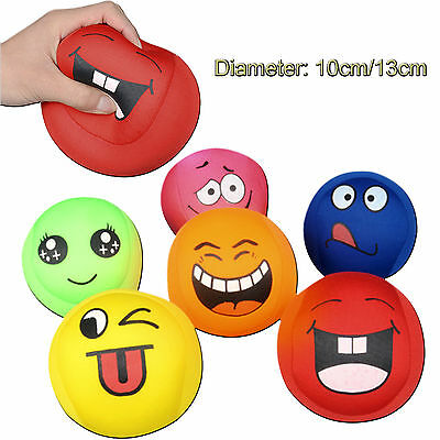 6Pcs/Lot Face Smile Emoji Anti Stress Relief ADHD Mood Squeeze Ball Reliever Toy