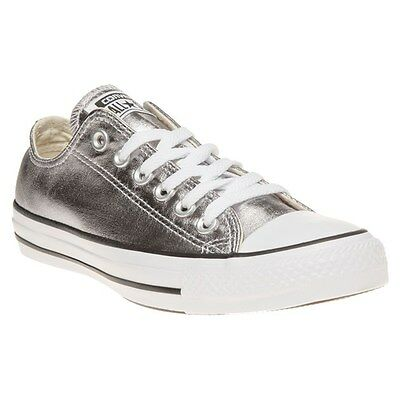 New Womens Converse Metallic All Star Ox Canvas Trainers Lace Up