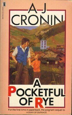 A Pocketful of Rye by Cronin, A. J. Paperback Book The Cheap Fast Free Post