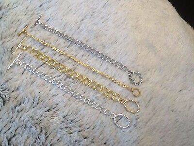 Gold or Silver - Toggle Clasp Necklace/Bracelet  Extender   3, 4 or 5 Inch