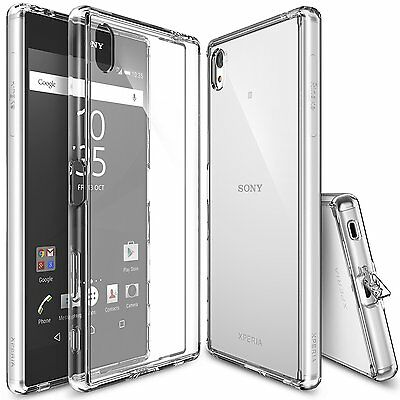 Sony Xperia Z5 Premium Case, Ringke [FUSION] Shockproof Protective Raised Bezels
