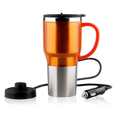 Stainless Steel Electric Kettle Boiled Water Bottle Heating Cup for Car Travel