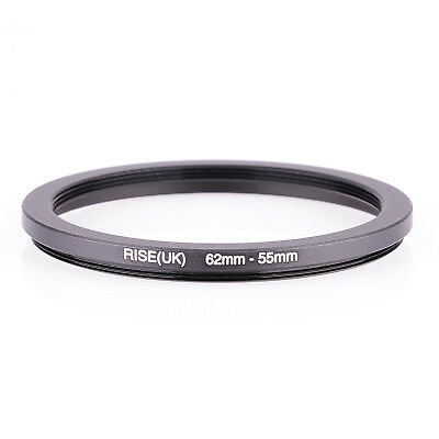 RISE(UK) 62-55MM 62 MM- 55 MM 62 to 55 Step Down Ring Filter Adapter