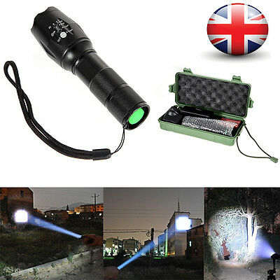 CREE XM-L T6 2200LM Tactical Zoomable LED Military Flashlight Torch Light Lamp