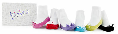 Trumpette Colourful Socks Pixie Pastel Set Of 6 Newborn Baby 0-12 Months