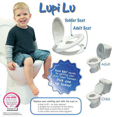 Lupi Lu Dual Toilet Seat for the whole family Adult & Child Seat in One NEW