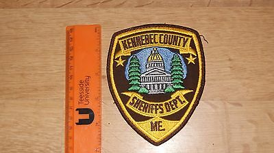 Kennebec county Sheriff ME Police  Patch