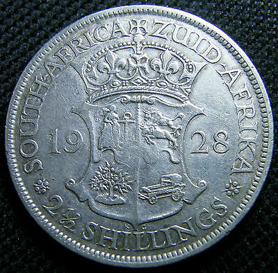 1928 South Africa, Silver Half Crown