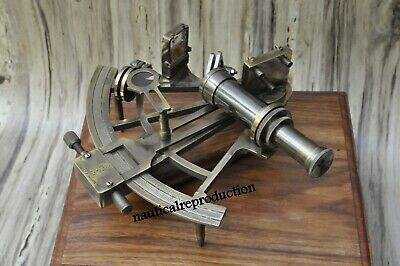 8'' Working Nautical Maritime Brass Big Sextant Antiques Marine Captain Sextant.