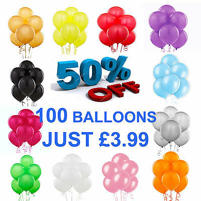 "LARGE Latex Helium Balloons Ballons 100X10"" INCH Party Wedding Birthday BALOON"