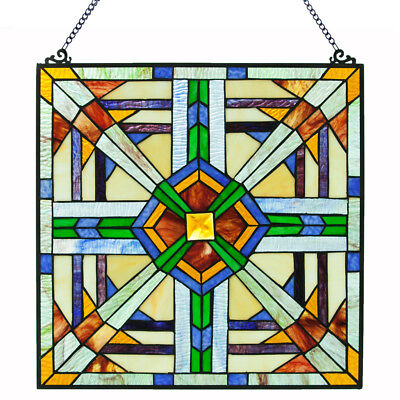 River of Goods Mission Southwest Stained Glass Window Panel