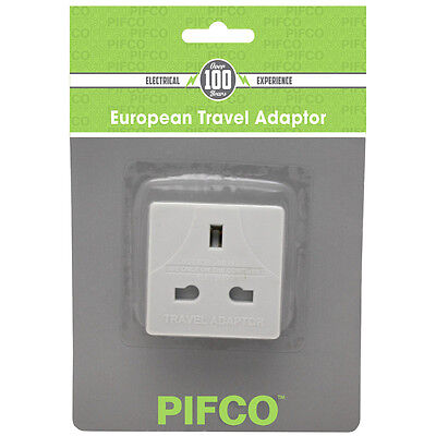 Value Range PIF2067 European Travel Adaptor Plug (UK to EU)