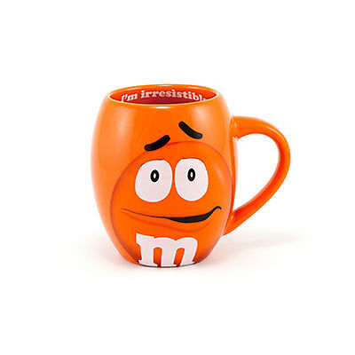 M&M's World Orange Character Barrel Mug New