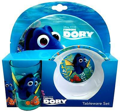Finding Dory 3-Piece Melamine Dinner Set | Tumbler, Bowl + Plate | Nemo | Disney