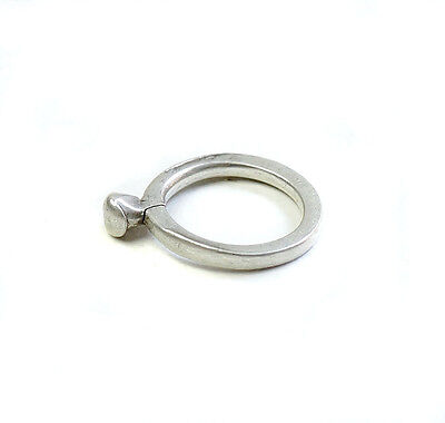 Antique unisex minimalist silver ring from Ethiopia EJ22