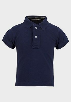 Baby Toddler Boys Polo Shirt Blue/white 6-12/12-18 Months