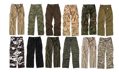 Vintage Cargo Paratrooper BDU Pants Military Fatigue Trouser Vintage Cargo Pants