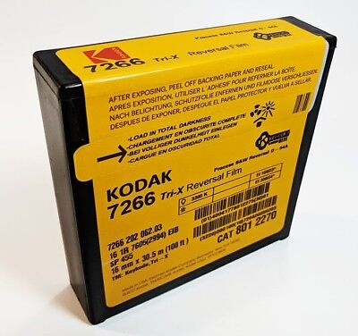 KODAK Tri-X 16mm 100FT 7266 Black & White  Movie Film 8012270*NEW FACTORY FRESH*