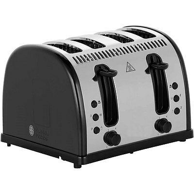 Russell Hobbs 21303 Legacy 4 Slice Polished Toaster Black New