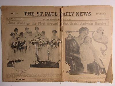 12 Assorted Newspapers Late 19th & Early 20th Centuries Minn Wis SD Fargo ND