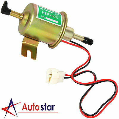 New Universal 12V Gas Diesel Electric Fuel Pump Inline Low Pressure HEP-02A
