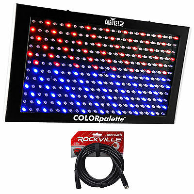 Chauvet DJ ColorPalette LED Panel Stage Wash Light+DMX Controls+25 ft. DMX Cable