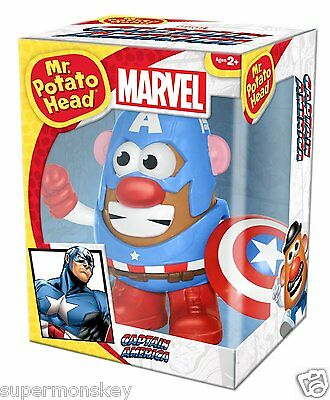 Playskool Mr. Potato Head Marvel Captain America Figure New