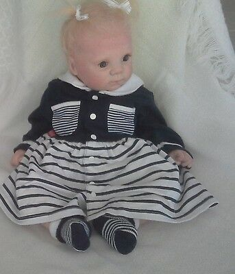 size 00? BABY CLUB sailor dress navy white suit doll or reborn
