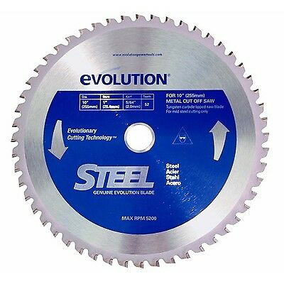 Evolution Power Tools 10BLADEST Steel Cutting Saw Blade 10-Inch x 52-Tooth