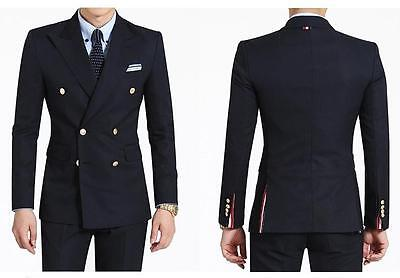Wedding Slim Suits Formal Groom Groomsmen Tuxedos Business Suit Double Breasted