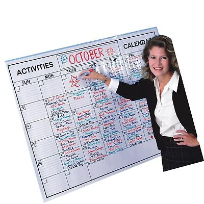 Laminated Jumbo Wall Calendar. Dry Erase Board Large Big Hanging Office Planner