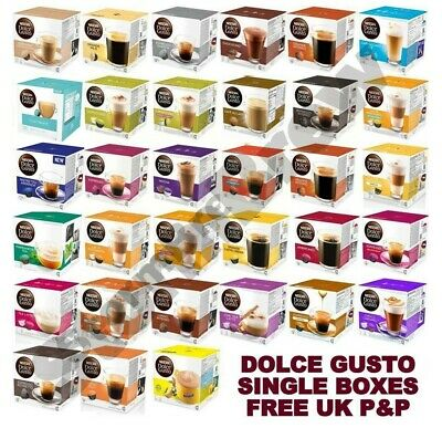 Nescafe Dolce Gusto Coffee Tea & Chocolate Capsules Pods. Full Boxes Free Uk P&p