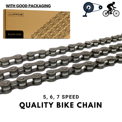 Silver Bicycle Chain 5 , 6 , 7 Speed Gear Mountain bike road hybrid Cycle